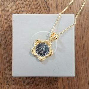 Jewelry - Bumblebee and Flower Coin Necklace